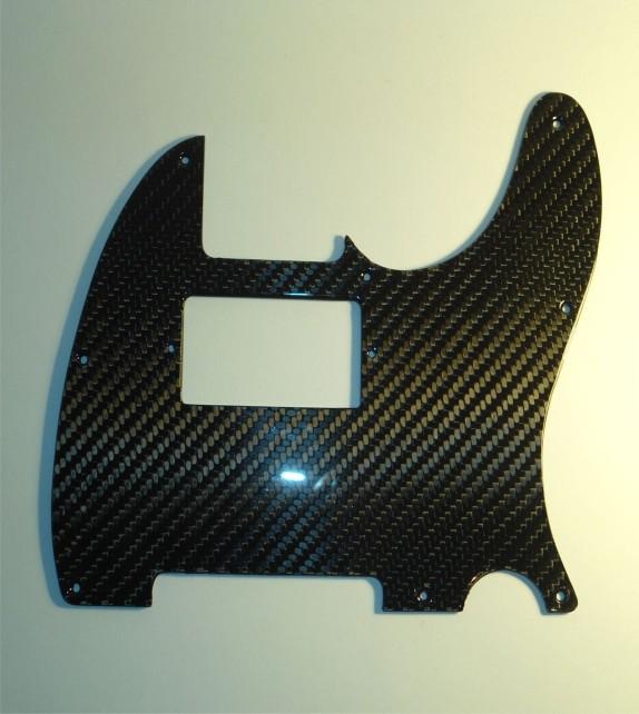 Telecaster 8 Hole Pickguard Carbon - Single Coil